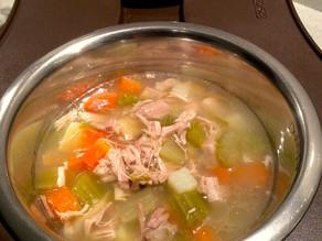 Καταπραϋντική σούπα για αναστατωμένο στομάχι σε ζώα