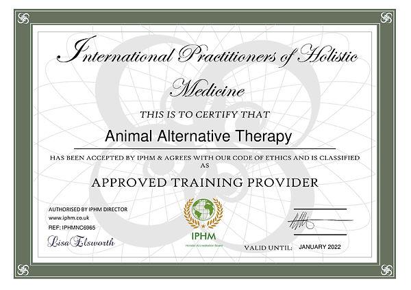 certificate-animal-alternative-therapy-2