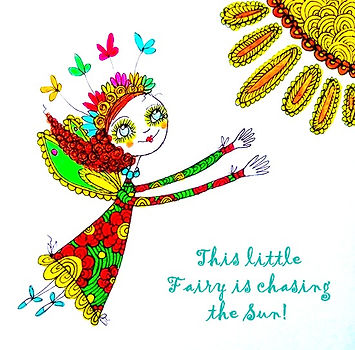 This little fairy is chasing the Sun!