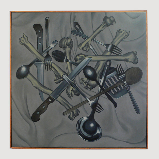 Composition with Bones and Cutlery