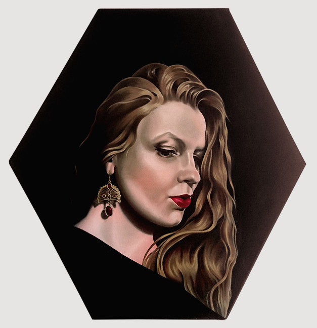 Self-Portrait in a Diamond