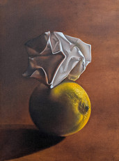 Still Life with lemon and Creased Paper
