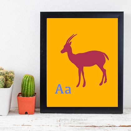 חיות ואותיות - אנטילופה