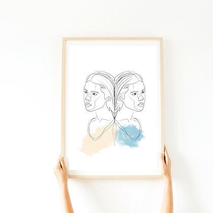 הדפס SISTERS