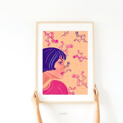 הדפס איור Flora