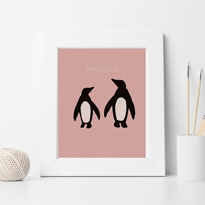 הדפס פינגווינים