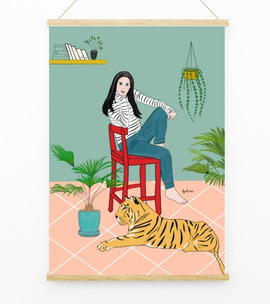 my tiger and me illustration by Ayelita
