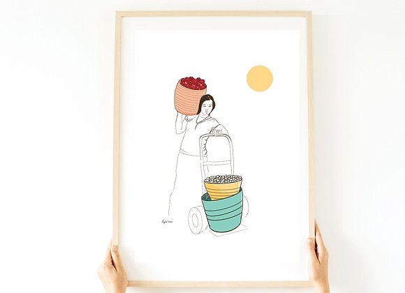הדפס -אישה בויאטנם