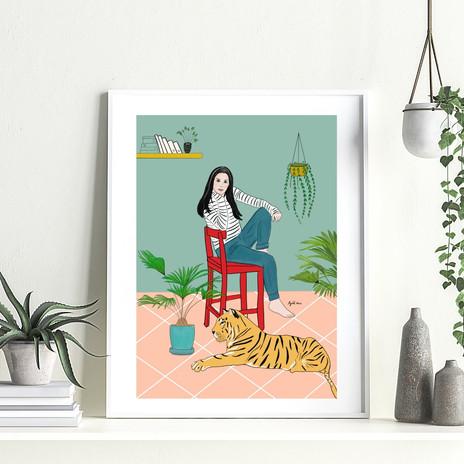 איורים והדפסים לעיצוב הבית