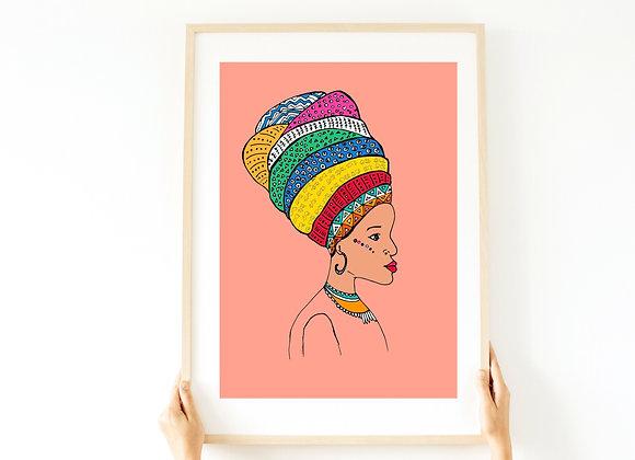 הדפס African queen