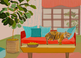 tiger in my living room by ayelita