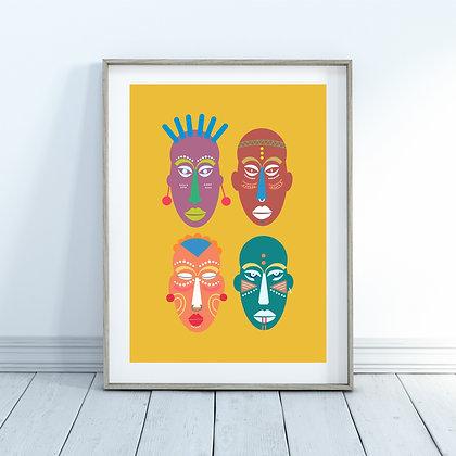 הדפס African masks