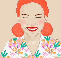 woman illustration Jullia  by ayelita