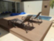 deck deslizante piscina
