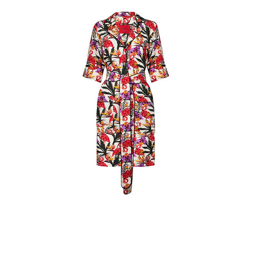 IZBA rouge tropical print pajamas with shorts