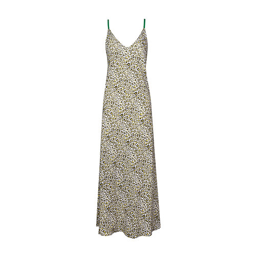 IZBA rouge animal-print slip dress yellow