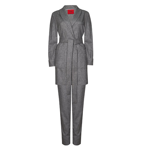 IZBA rouge grey wool lounge suit