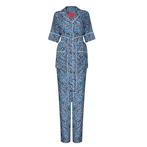IZBA rouge пижамный костюм с пейсли принтом голубой