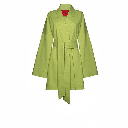 IZBA rouge summer kimono green cotton