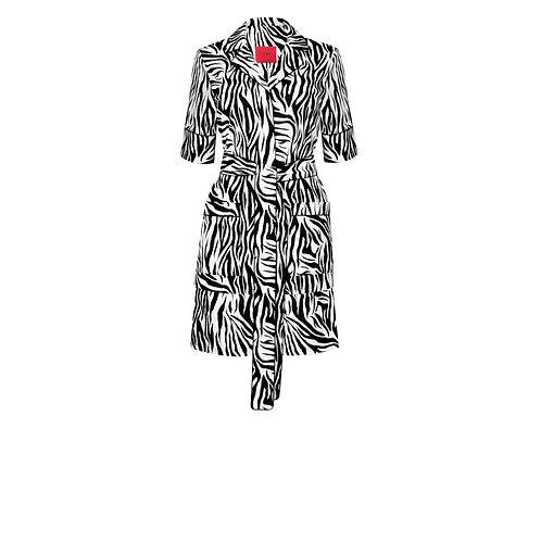 IZBA rouge пижамный костюм из хлопка с анималистичным принтом зебра черно-белый