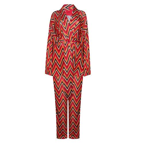 IZBA rouge костюм кимоно и брюки с принтом зиг-заг