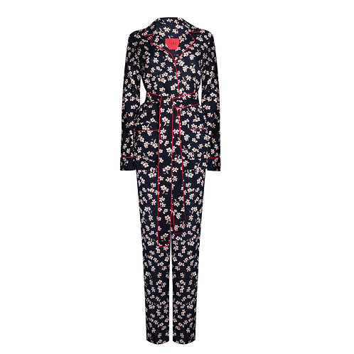 IZBA rouge outdoor pajamas with floral-print