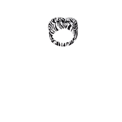 IZBA rouge animal-print cotton headband black and white