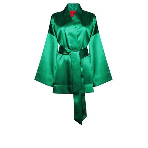 IZBA rouge green evening kimono