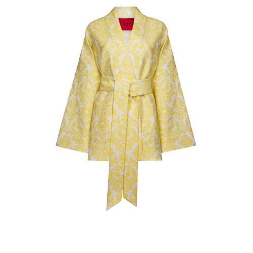 IZBA rouge кимоно на выход из жаккарда желтого цвета