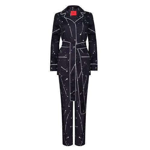 IZBA rouge пижамный костюм из хлопка с принтом всплеск краски