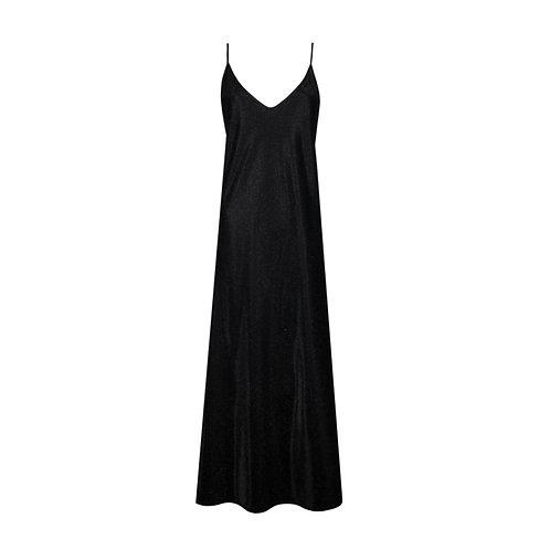 IZBA rouge new year slip dress in black color