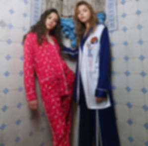 IZBA rouge_ISSUE#12_red silk pajamas wit