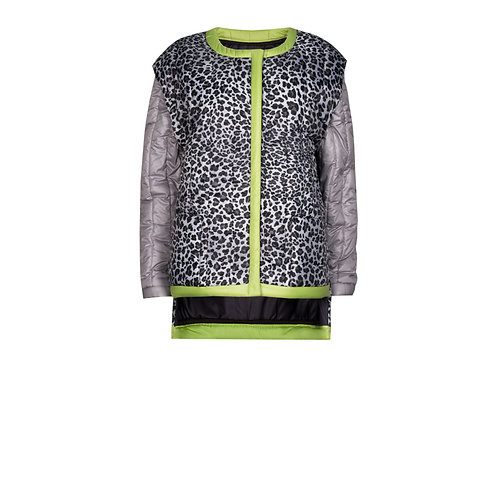 IZBA rouge animal-print quilted jacket