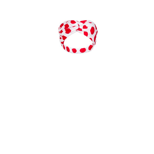IZBA rouge polka-dot cotton headband