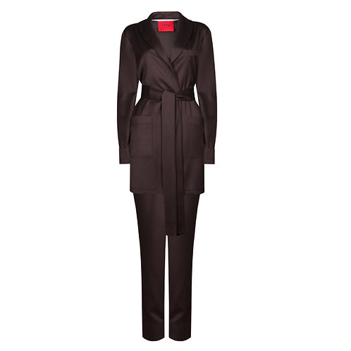 IZBA rouge green chocolate lounge suit pajama suit