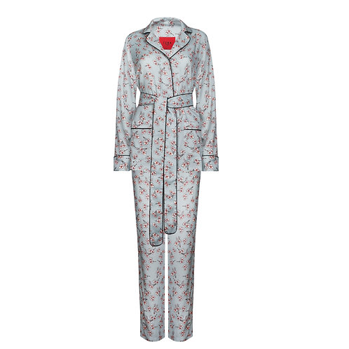 IZBA rouge light blue pajama suit for outdoor