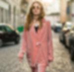 Paris street style velvet pajama style suit