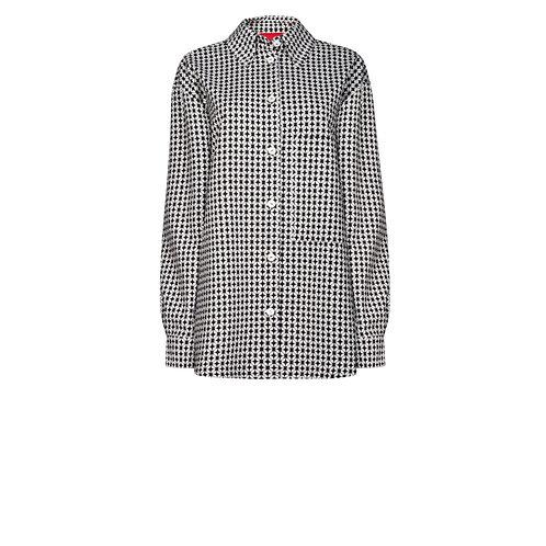 IZBA rouge black & white graphic print jacquard shirt
