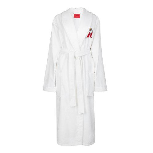 IZBA rouge новогодняя коллекция белый махровый халат с вышивкой