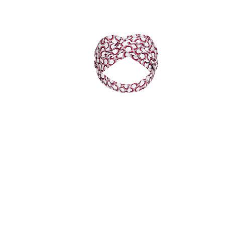 IZBA rouge cotton headband with print