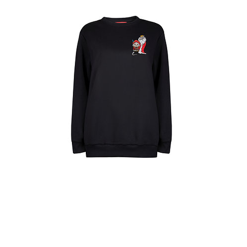 IZBA rouge new year sweatshirt with embroidery