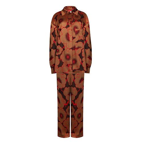 IZBA rouge костюм с цветочным принтом из вискозы