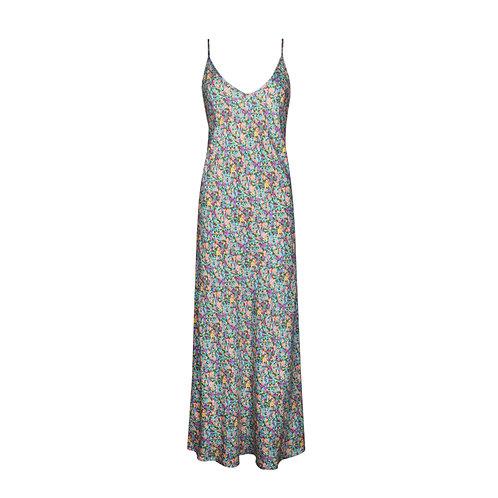 IZBA rouge floral-print mint slip dress