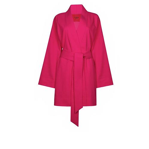 IZBA rouge summer kimono pink cotton