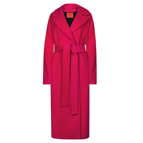 IZBA rouge fuchsia wool coat