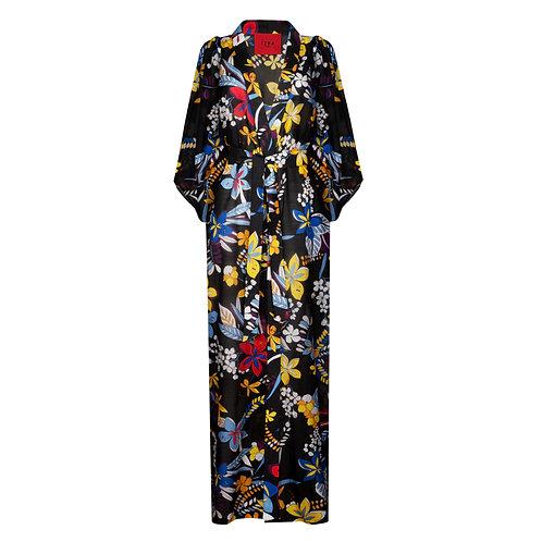 IZBA rouge платье-халат с цветочным принтом для отдыха пляжа и путешествий