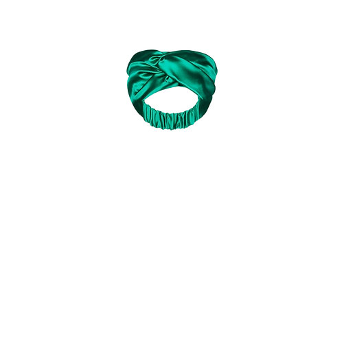 IZBA rouge green silk headband