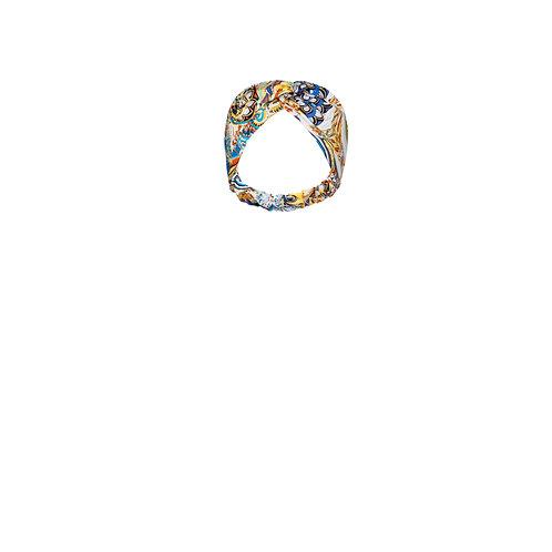 IZBA rouge floral-print headband yellow