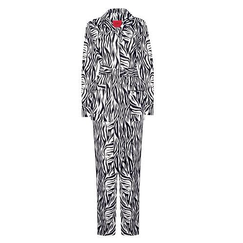 IZBA rouge пижамный костюм с анималистичным принтом из хлопка