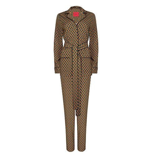 IZBA rouge printed pajama suit with graphic print